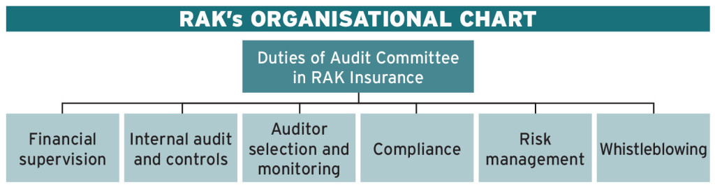 RAK Insurance Organisational Chart