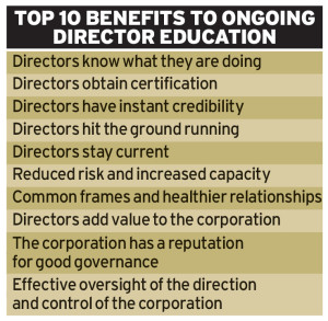 Benefits of director education programmes
