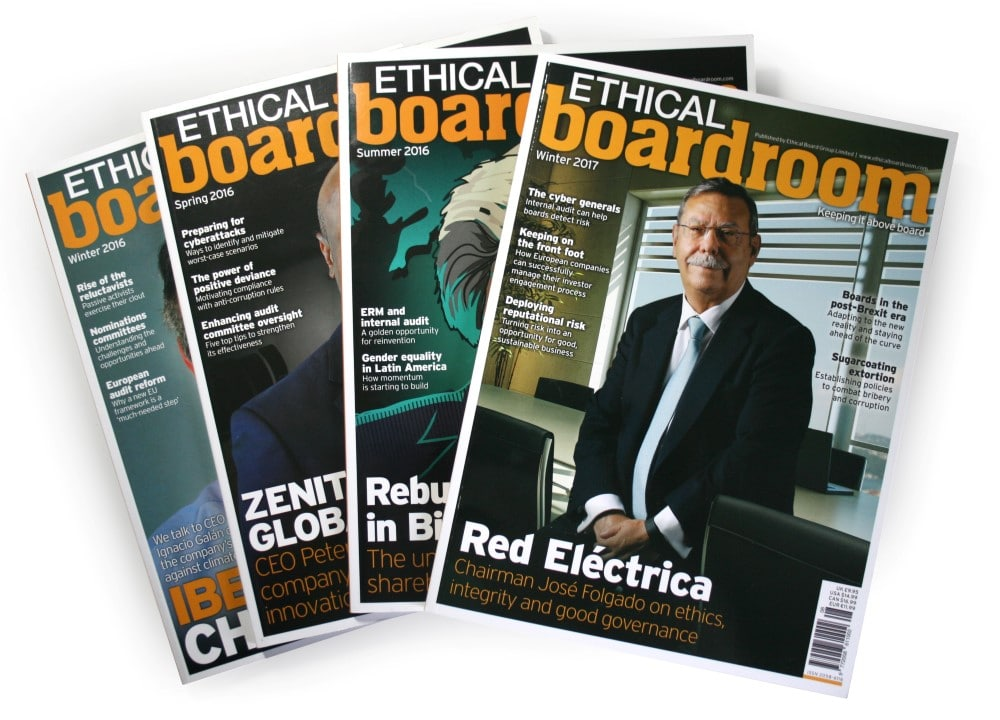 Ethical Boardroom Magazine Subscription Ethical Boardroom