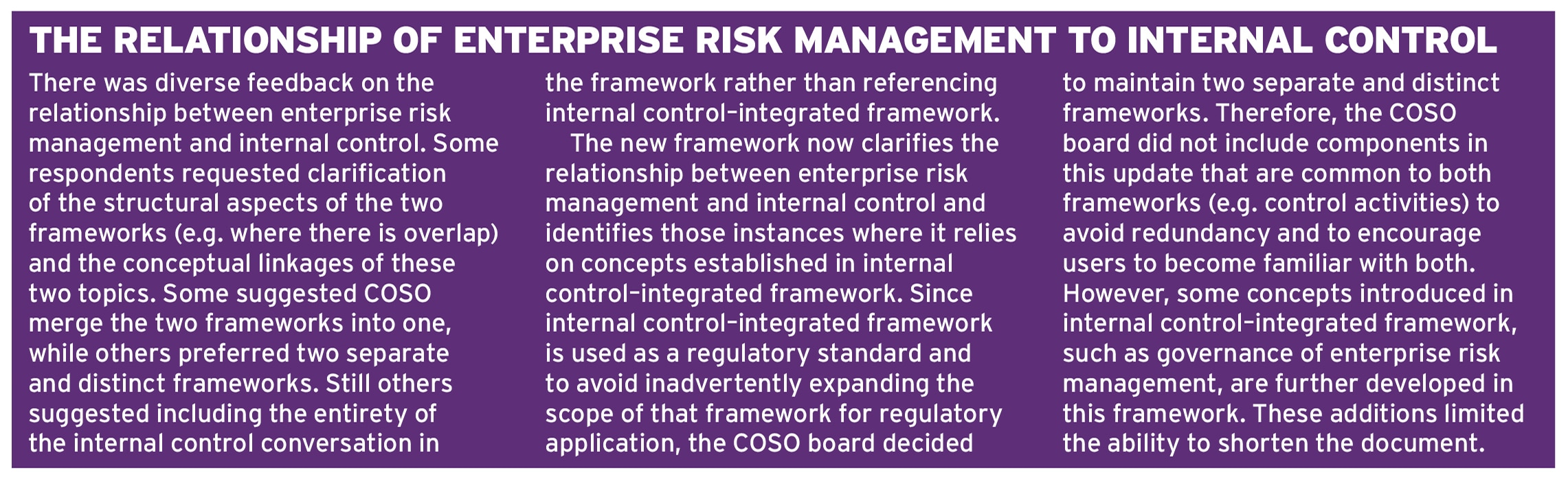 COSO ERM 2017 Ethical Boardroom